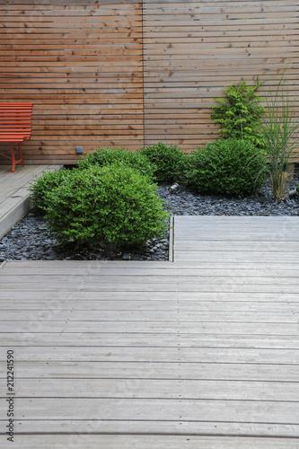 Moderne Garten Und Terrassengestaltung Terrasse Aus Holz Und