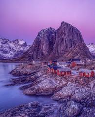 Hamnoy village Moskenes, Nordland, Lofoten, Norway