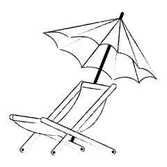 umbrella beach with chair