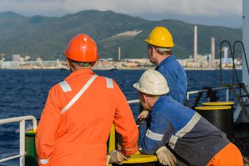 Seamen on deck