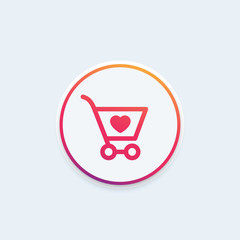 Order, shopping cart icon