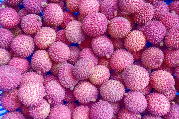 The lychee stacks for sale a wait.
