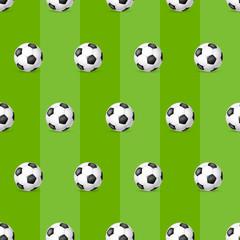 Classic soccer ball seamless pattern.  Football ball seamless pattern