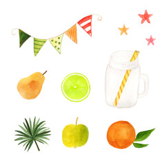 Fruit drink set.