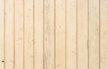 Beige painted old wooden planks background texture
