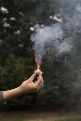 Hand holding firecracker