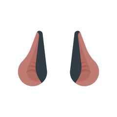 Ears bat isolated template. Night animal Vector illustration