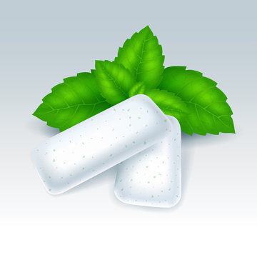 Chewing gum with mint flavor