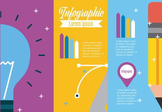 Creative Process Infographic Layout