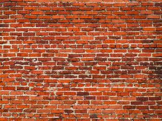 Old brick wall of red brick.
