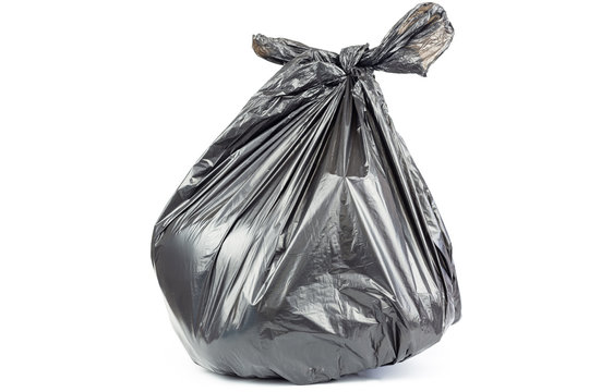 garbage bag isolated on white background.