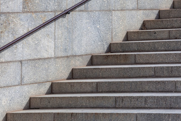 Granite staircase - city architecture closeup