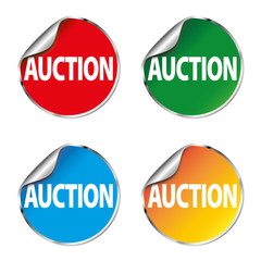 auction color sticker set icon