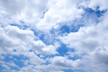 White cloud in deep blue sky, in a sunny day.