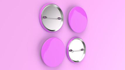 Blank purple badge on purple background