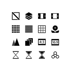 Simple Set of Business Management Related Vector Line Icons. Contains such Icons as brightness, contrast, timer and more. Editable Stroke. 48x48 Pixel Perfect.