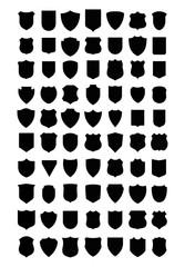 Set of emblem shields vectors