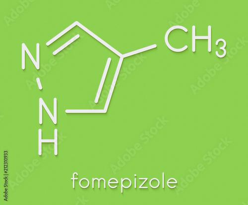 Fomepizole methanol poisoning antidote molecule  Skeletal