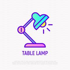 Table lap thin line icon. Modern vector illustration of desk lighting.