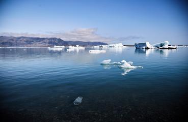 Melting glacier in Iceland. Clear