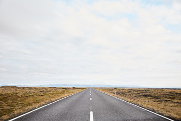 Endless roads in Iceland
