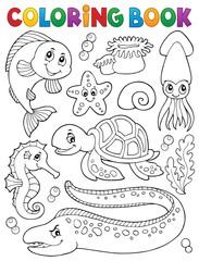 Coloring book sea life collection 1