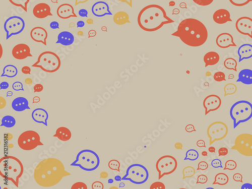 generative random pattern with chatbot and bubbles template stock