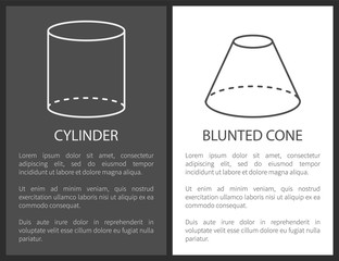 Cylinder and Blunted Cone Geometric Shapes Simple