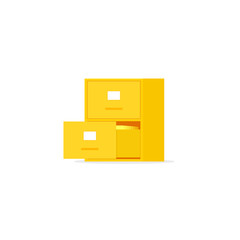 Yellow file cabinet with two drawer