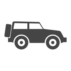 Offroad SUV Car Icon
