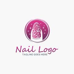 Nail salon logo design