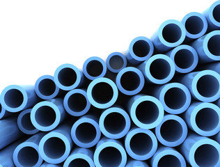 Blue pipes, illustration