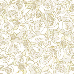 roses seamless floral pattern