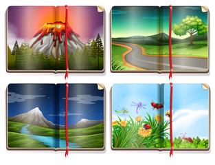A Set of Landscape Book