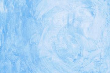 Blank blue grunge cement wall texture background, banner, interior design background