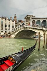 Foto op Aluminium Venetie Rialto Bridge in Venice. Region Veneto. Italy