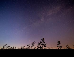 Milchstraße am Himmel über Mainfranken