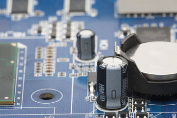 Electronic board. Shallow depth of field. Can be used as a background