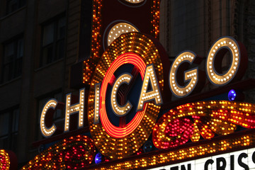 Photo sur Aluminium Chicago USA - Chicago Bright Neon