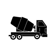 Cement Truck icon vector icon. Simple element illustration. Cement Truck symbol design. Can be used for web and mobile.