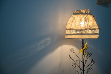Luminous lamp with shade