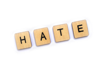 The word HATE