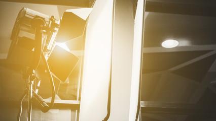 image of studio lighting setup background