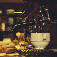 Espresso machine and coffee cup