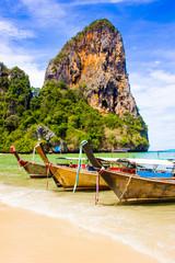 Beautiful tropical paradise Railay beach in Krabi inThailand
