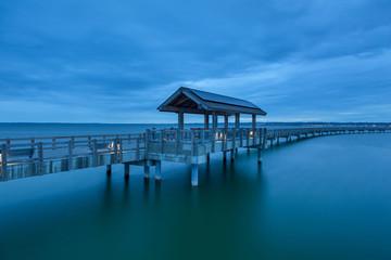 Taylor Dock Boardwalk at Blue Hour