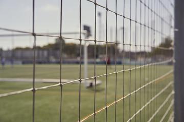 Artificial grass stadium in spain