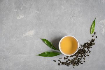 Green oolong tea