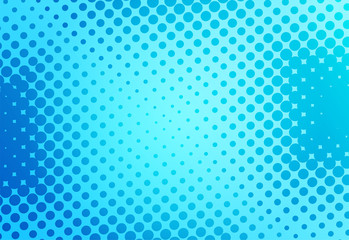 Blue pop art retro background with dots comic style, vector illustration - stock vector