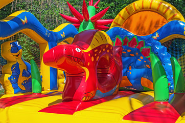 Inflatable trampoline children's